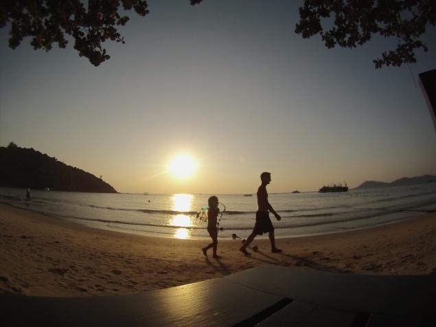 Wat ook nog eens sunset-beach blijkt zijn.