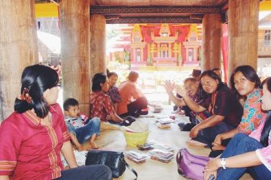 Huwelijksceremonie in Rantepao