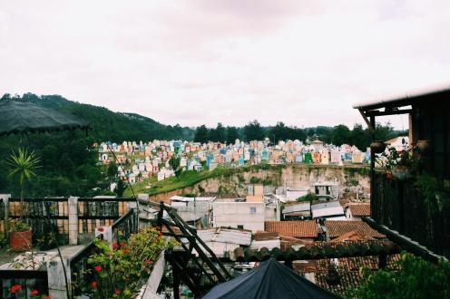 En dit is het uitzicht vanaf ons guesthouse