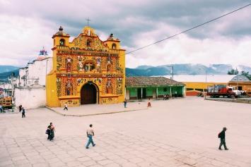 Bizarre kerk in San Andrés