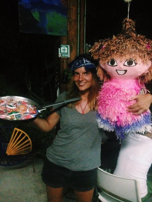 Birthday-piñata in Tulum