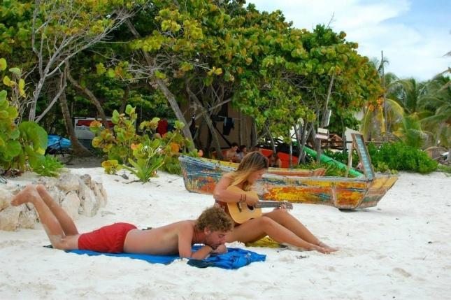 Genieten op het strand van Tulum