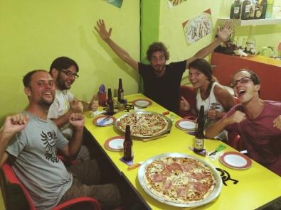 Afscheidspizza's