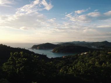 Het uitzicht over de baai bij San Juan