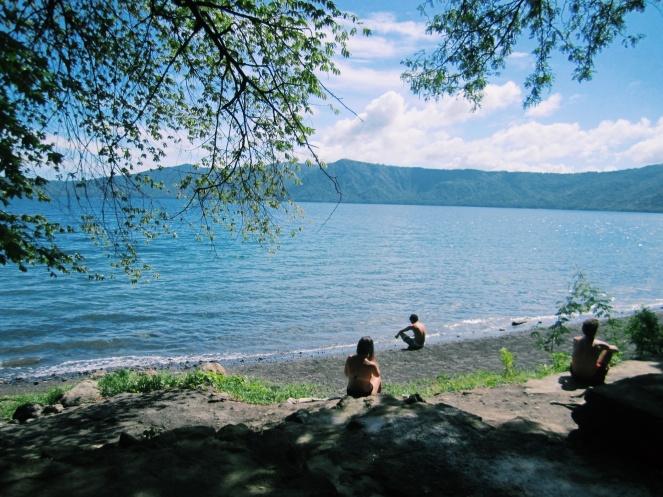 Laguna de Apoyo, een kratermeer vlakbij Masaya
