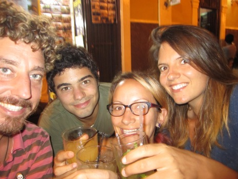 Samen met Berni en Jackie in Granada.